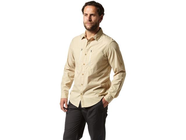 Craghoppers Kiwi Boulder T-shirt à manches longues Homme, oatmeal